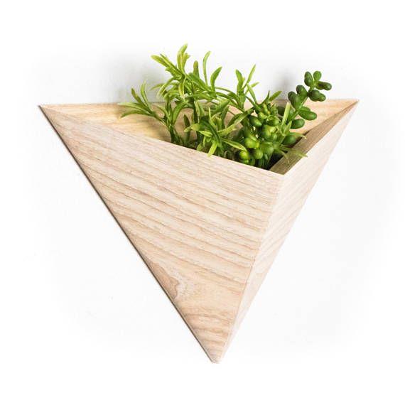 Triangular Air-Plant Planter box Geometric Indoor Planter | Planter ...