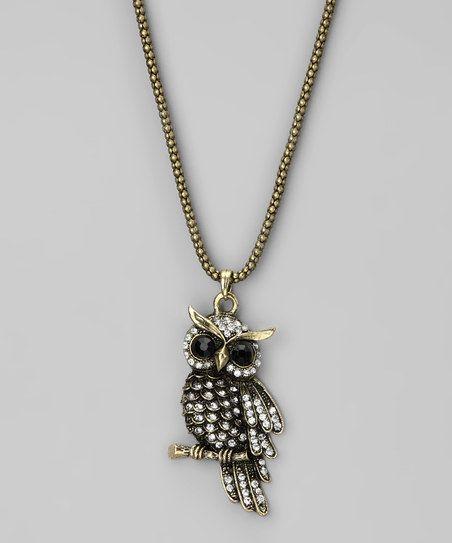 Brass Owl Pendant Necklace