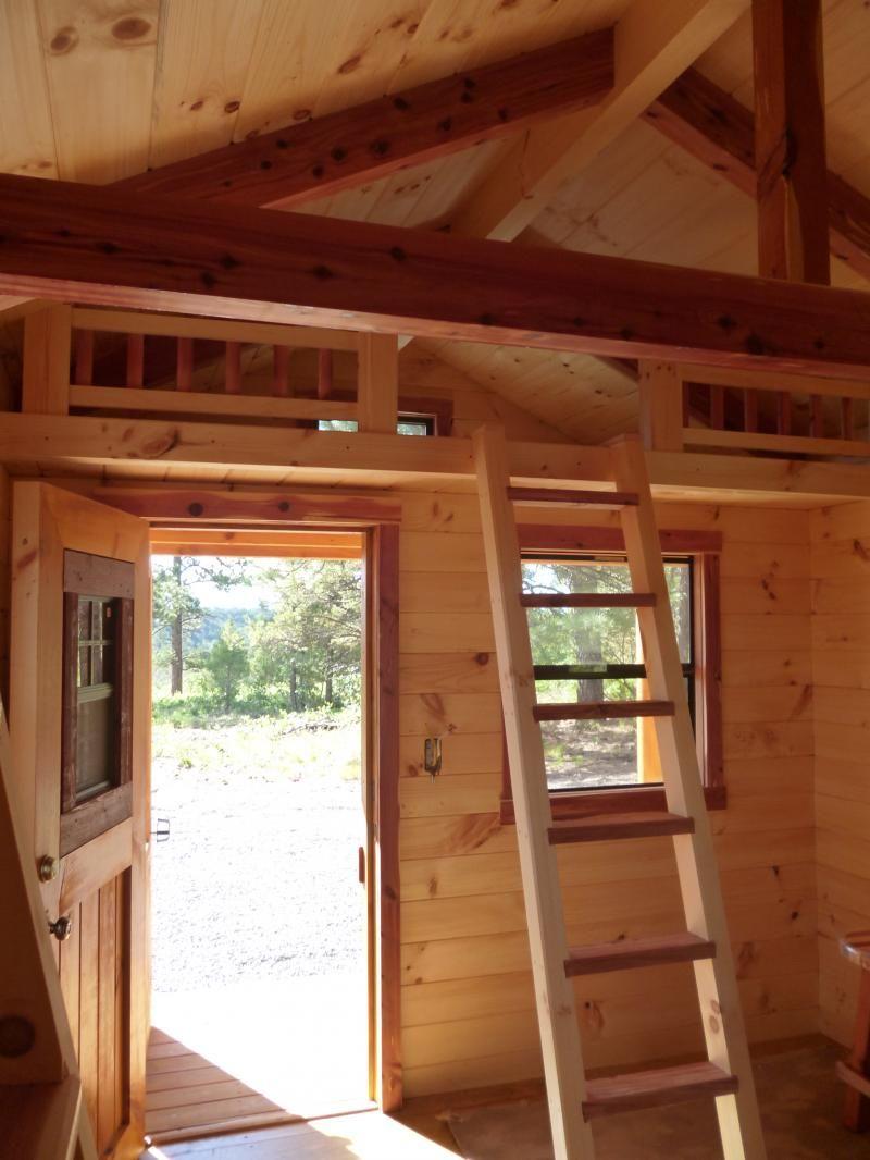 Trophy Amish Cabins Llc 10 X 20 Hunter 200 S F Standard 4 Porch Loft 10 X 16 Interior Plus 3 Win Interior Windows Loft Railing Small House Design