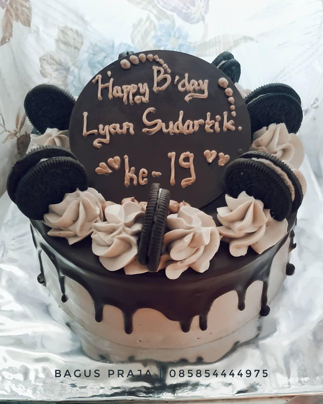 Kue Ultah Coklat Simple : ultah, coklat, simple, Dekorasi, Chocolate, Artata, Menyediakan, Segala, Macam, Jenis, Mulai, Ultah..., Tart,