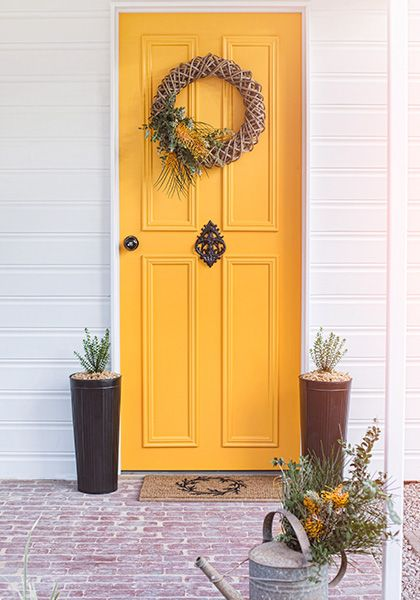 Front Door Paint Optimistic By Colour Saturated Life Found Http