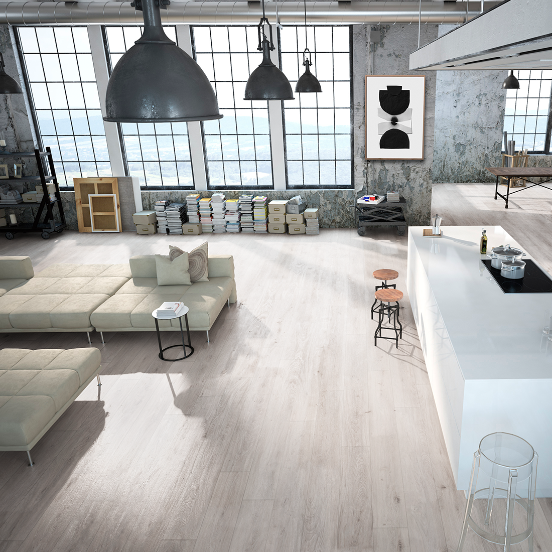 Hybrid Mistura 6mm Arctic Wood floors wide plank, Timber