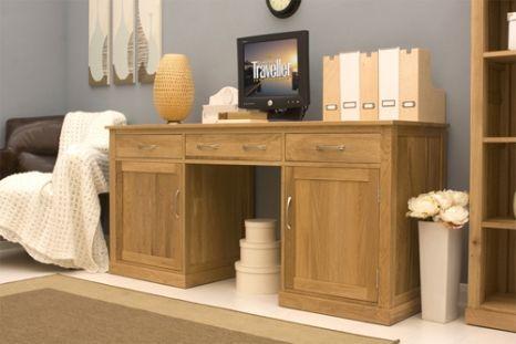 large hidden office twin pedestal desk mobel oak brand new contemporary computer desk workstation design pullout central keyboard drawer and two lar