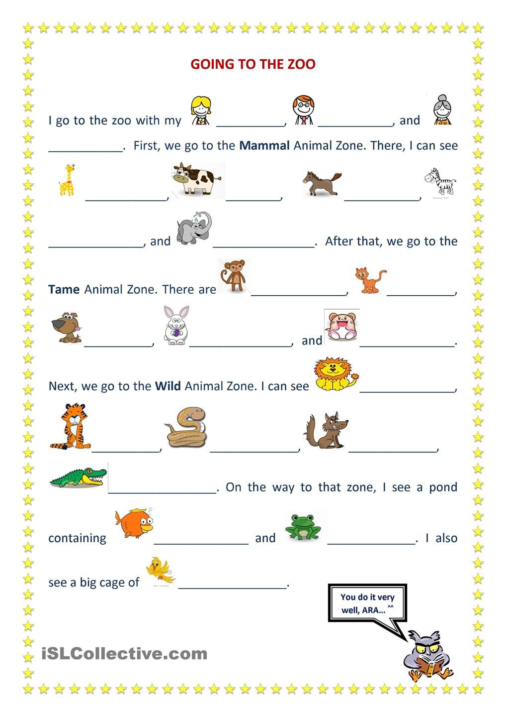 Going To The Zoo English Lessons For Kids English Grammar Worksheets Learning English For Kids [ 1440 x 1018 Pixel ]