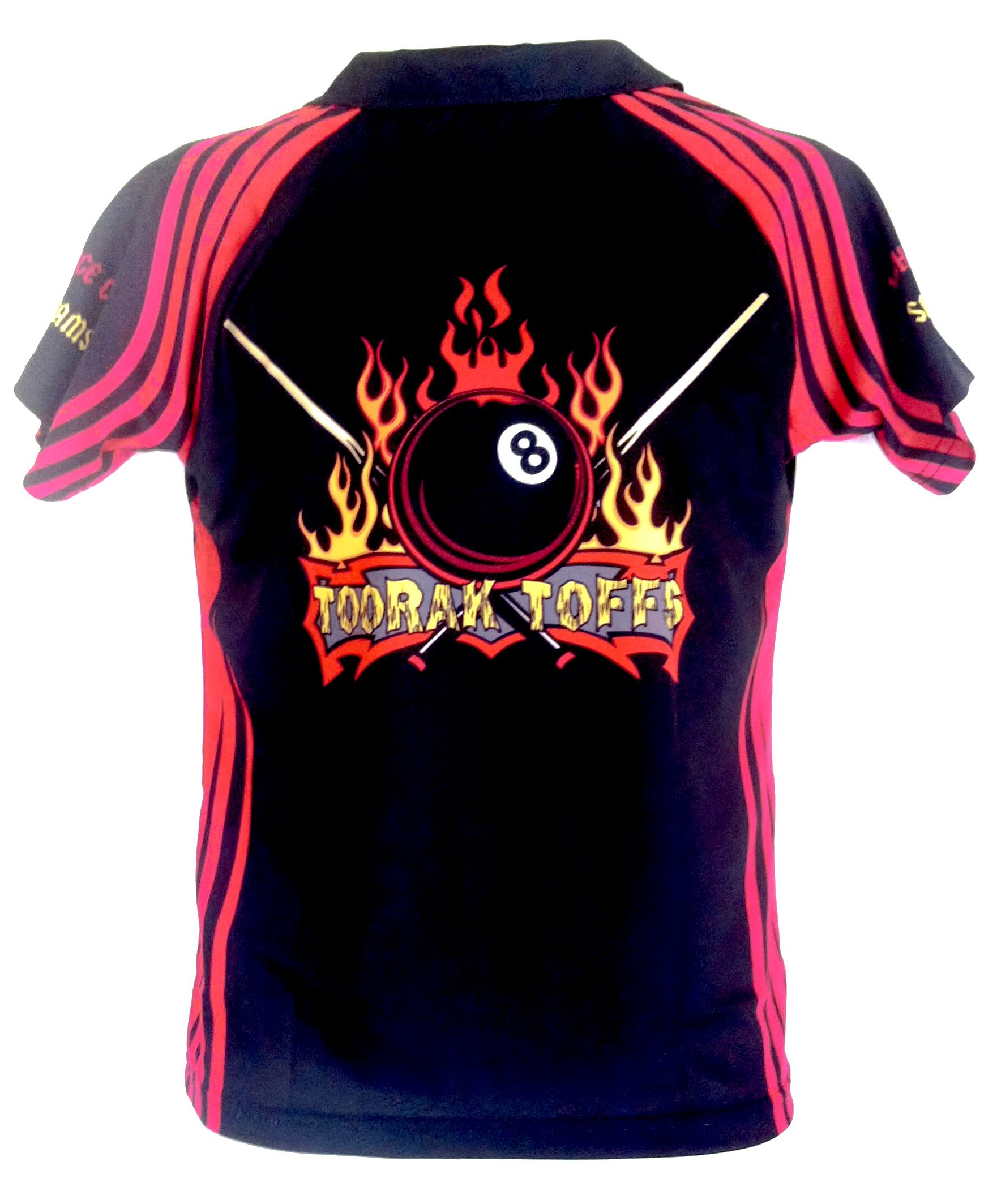Shirt design on sleeve - Here Is A Creative Sublimated Polo Shirt Design For Toorak Toffs Made Especially For Their Pool