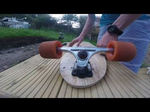 how to make a longboard from a pallet for free + template - YouTube ... 1047e627d09a3