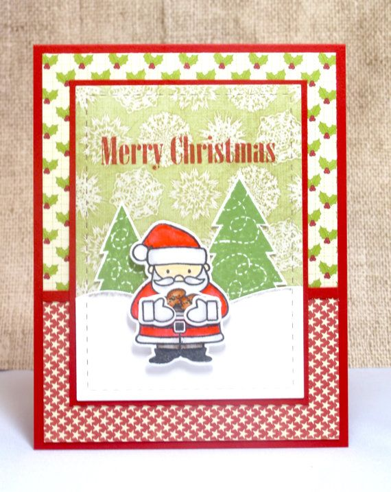 Christmas Card Santa Claus Merry Christmas Handmade By Doodleshop Merry Christmas Wishes Christmas Cards Handmade Christmas Sentiments