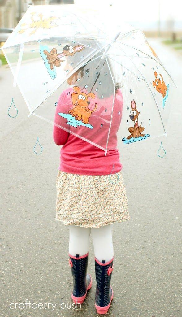 April Showers...a customized umbrella | Kids umbrellas ...