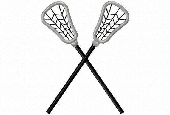 Lacrosse Sticks Applique Machine Embroidery by