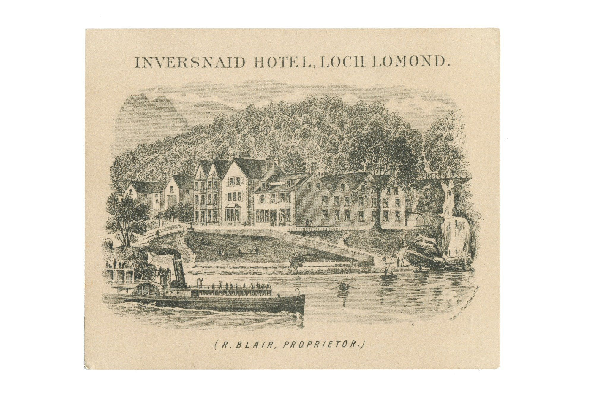Inversnaid Hotel, Loch Lomond, Scotland, 1880s #lochlomond