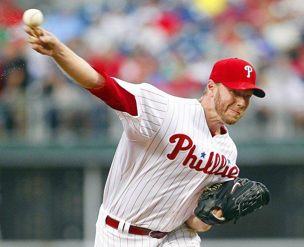 Halladay was far from great on Monday, but he finally got something he hasn't gotten in a long time.