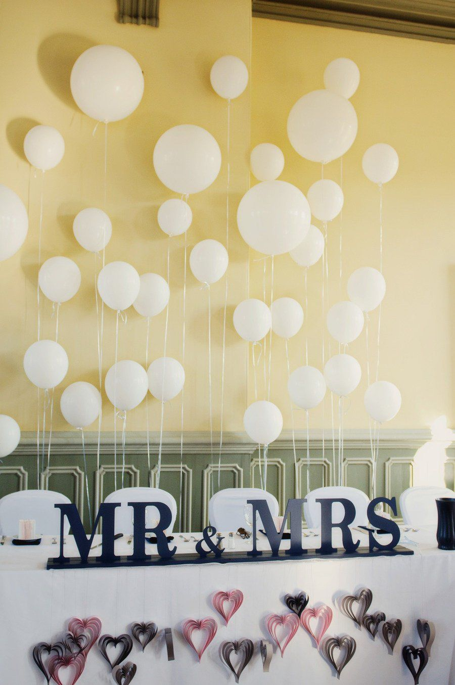 Create a Balloon Wall Behind the VIP Seating | Balloon wall, Wedding ...