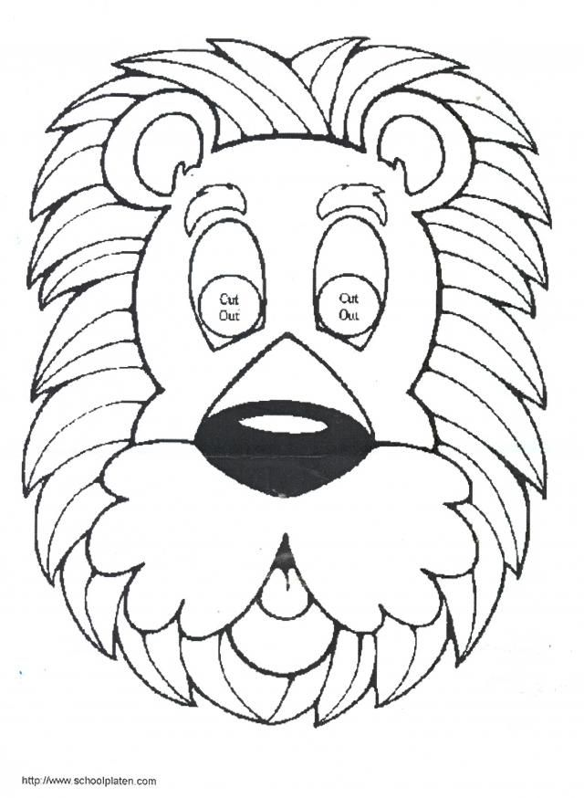 create a homemade mask using this lion pattern