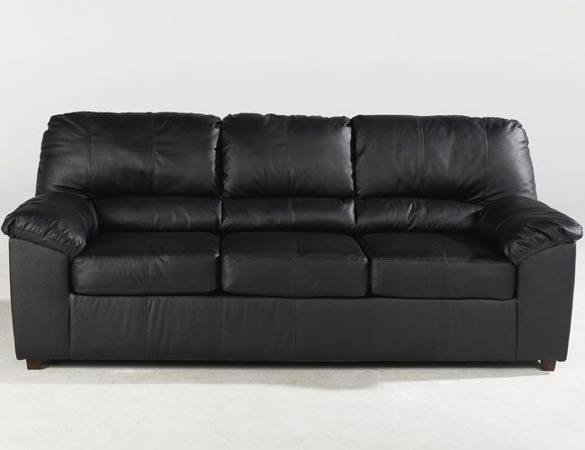 Sofa Cover THE FURNITURE Durable Black Leather Match Reclining Sofa Sydney Collection FREE SHIPPING