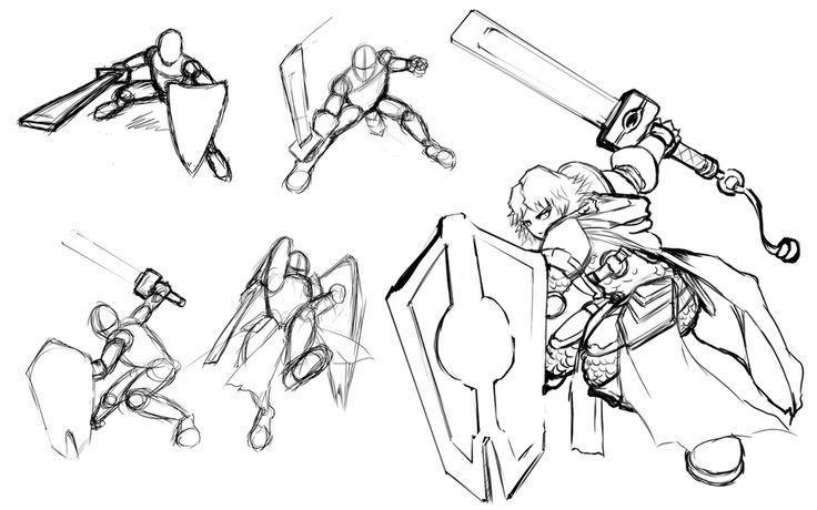 Resultado de imagen de sword and shield pose | Poses ...
