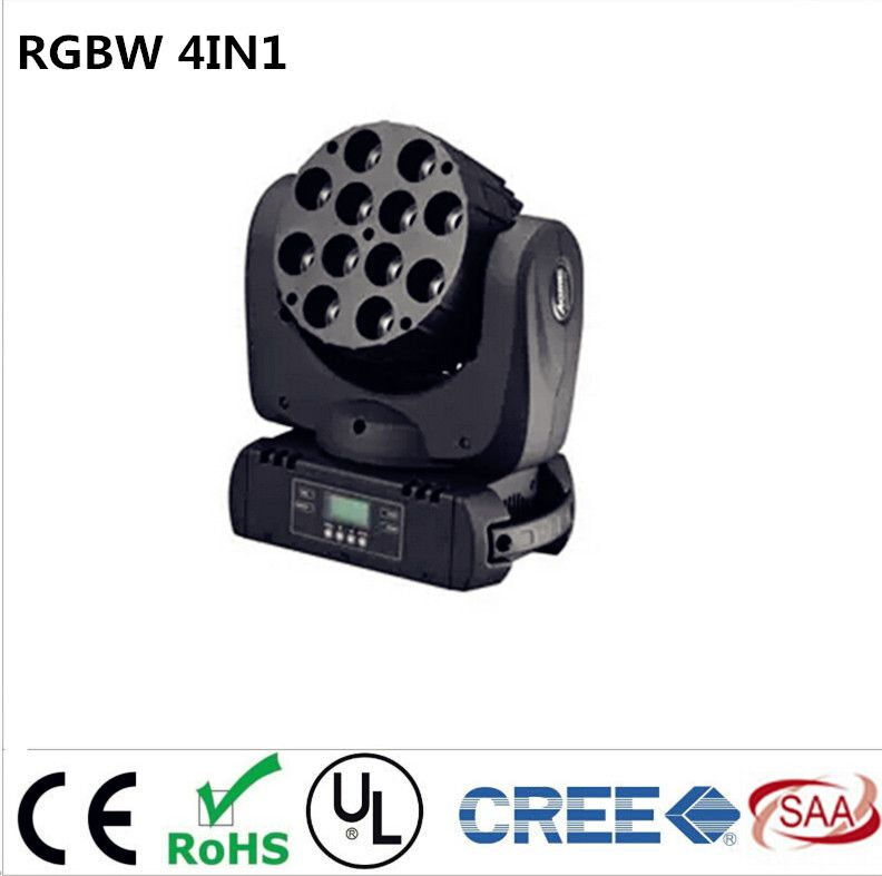 LED moving head 12x12w rgbw 4in1 color with advanced 9/16 dmx channels for dj disco parties show lights #Affiliate