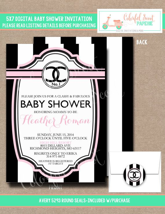 Baby Shower Invitation Baby Shower Invite Chanel Baby Coco Chanel