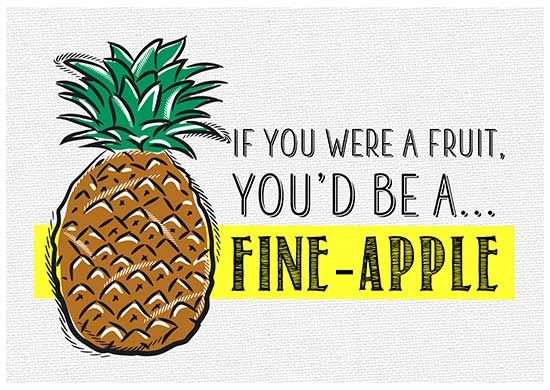 Fruit pickup lines
