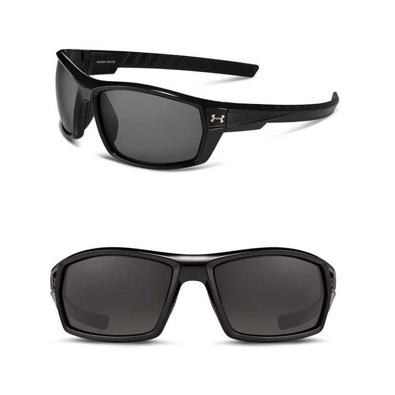 bf723796789b0 Under Armour Sunglasses UA Ranger Men s Sport Shiny Black Frame Shades Gray  Lens  UnderArmour  Sport