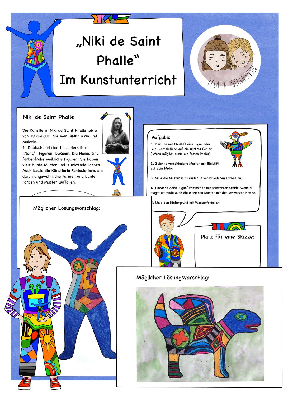 Niki De Saint Phalle Im Kunstunterricht Kunst In Der Grundschule Unterrichtsmaterial Im Fach Kunst Kunst Unterrichten Kunstunterricht Kunst Grundschule