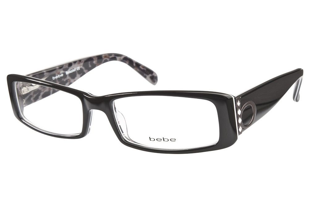 e0c43aeda0f0 Bebe Bedazzled Black Leopard eyeglasses. Get low prices