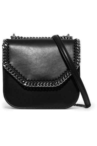 f98754790393 Stella McCartney - The Falabella Box Mini Faux Leather Shoulder Bag - Black
