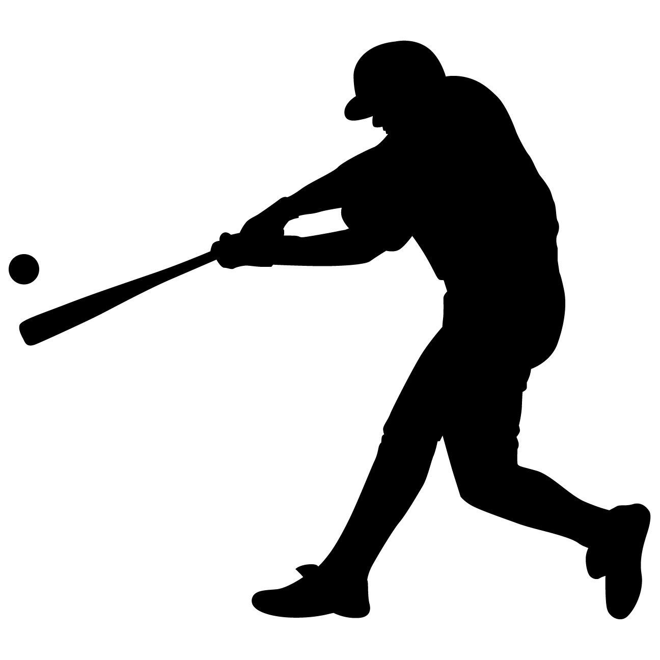 Baseball Batter Wall Decal Sticker 43