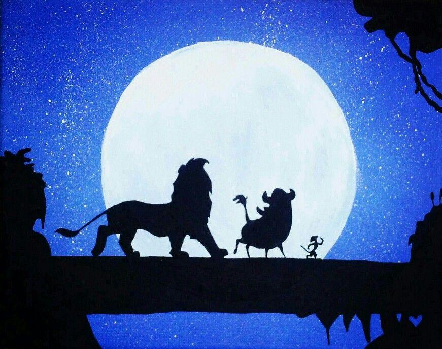 Canvas Painting The Lion King Hakuna Matata Disney Canvas Art Disney Canvas Paintings Lion King Drawings