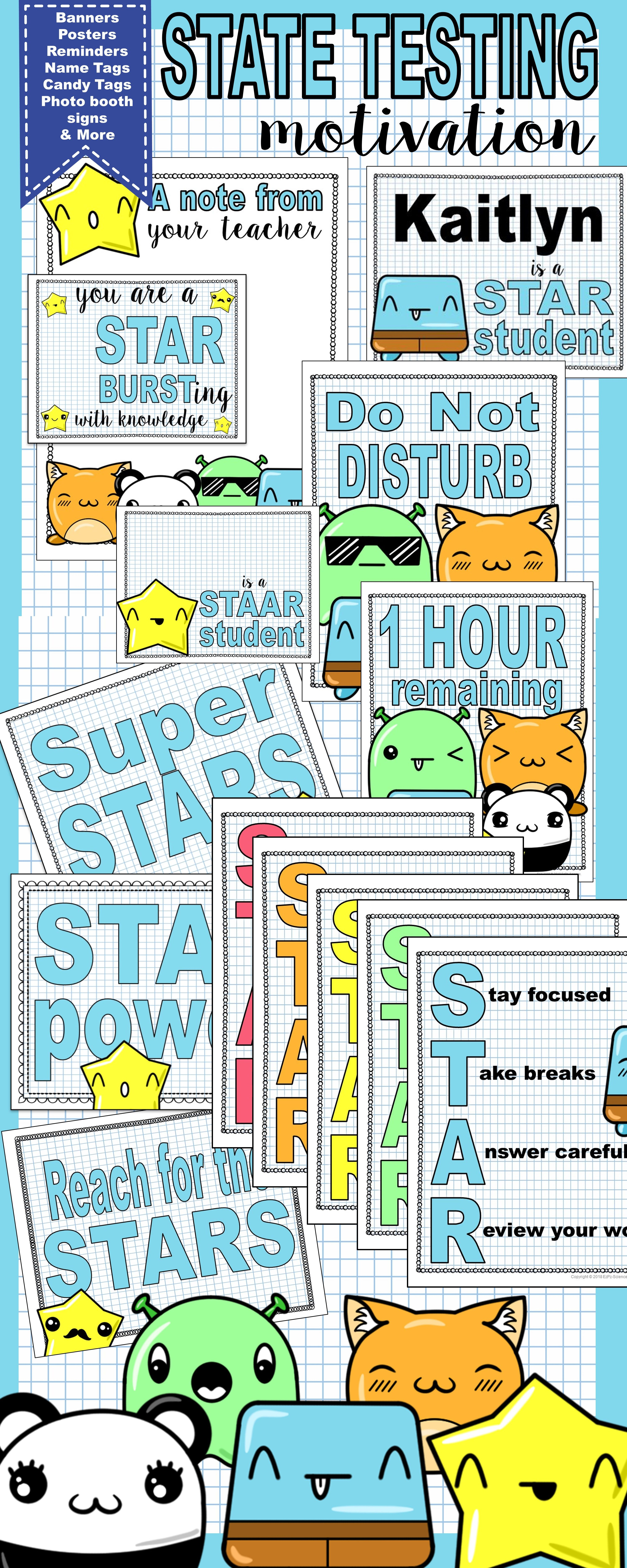State Testing Motivation and Posters | TpT Science Lessons