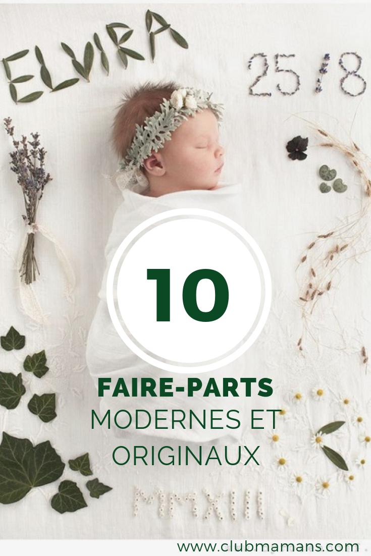 Faire part naissance moderne et original : 10 modèles !