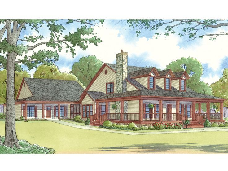 074H 0016  Country Style Multi Generational House Plan with In Law     074H 0016  Country Style Multi Generational House Plan with In Law Suite