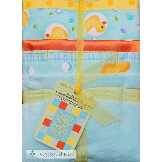 The Ducky Fun Cuddly Quilt Kit Is An Easy Baby Quilt Kit