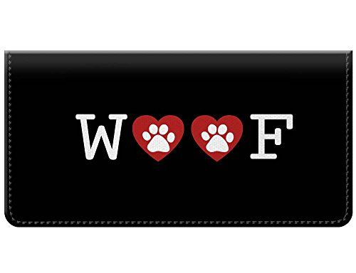 Snaptotes Dog Woof Paw Print Checkbook Cover You Can Get Additional Details At The Image Link We A Checkbook Covers Checkbook Cover Leather Checkbook Cover