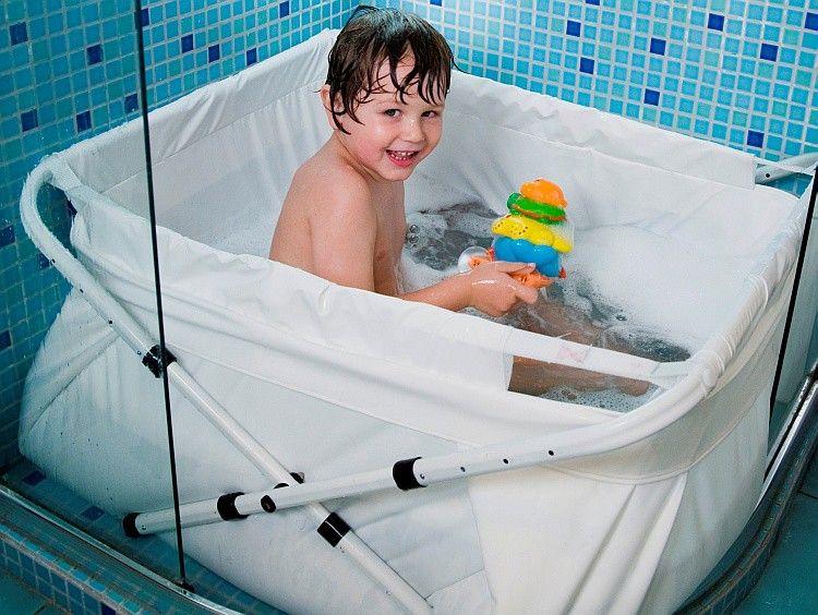 Bibabain wanna wanienka pod prysznic turystyczna - Laver un bebe dans une douche ...