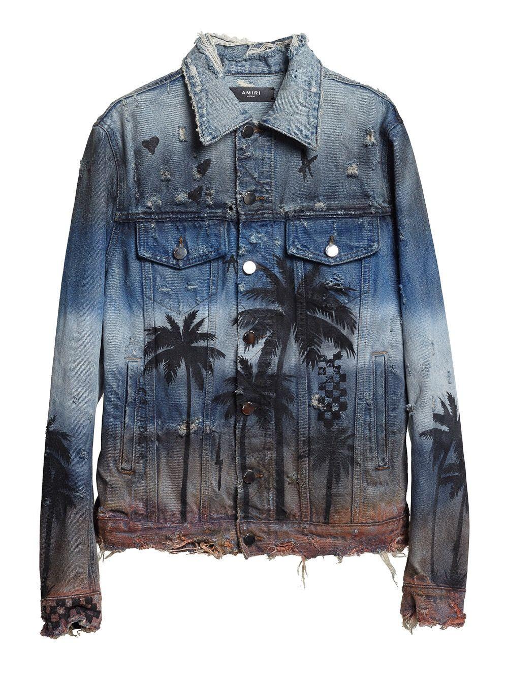 6ae59883465 Amiri Palm Denim Jacket – DopeFahionSense
