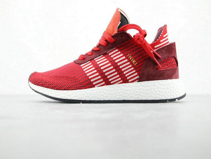 a596d71ff549 adidas INIKI Runner Boost PK Red Orange Running Boost adidas For Sale