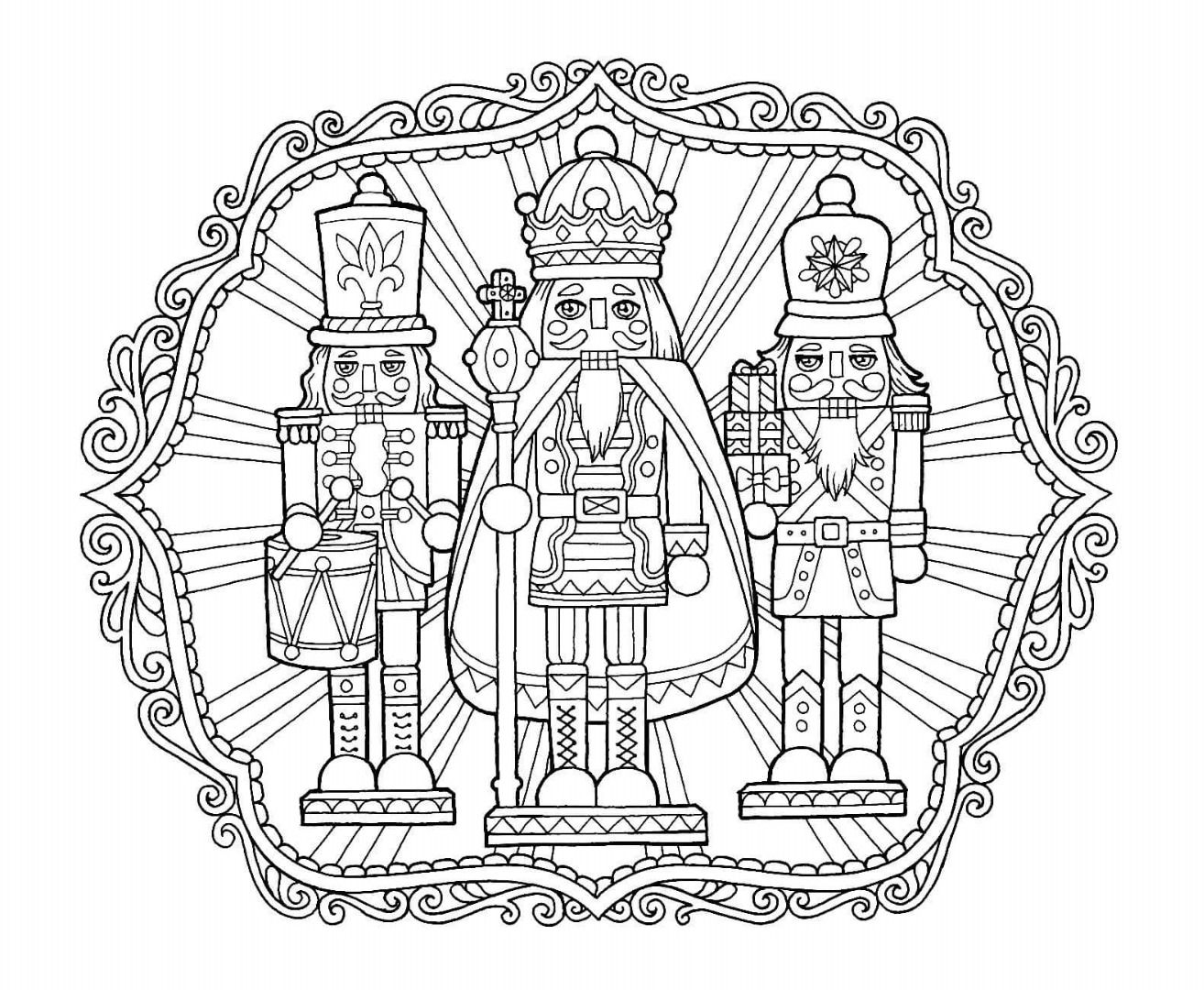 Christmas Nutcracker Coloring Page Coloring Pinterest Adult