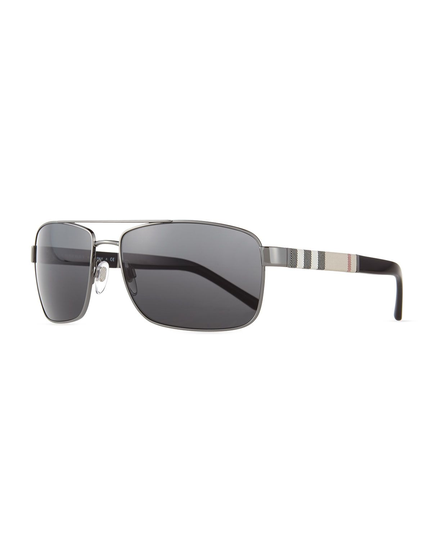 0964f7b456 Check-Temple Aviator Sunglasses