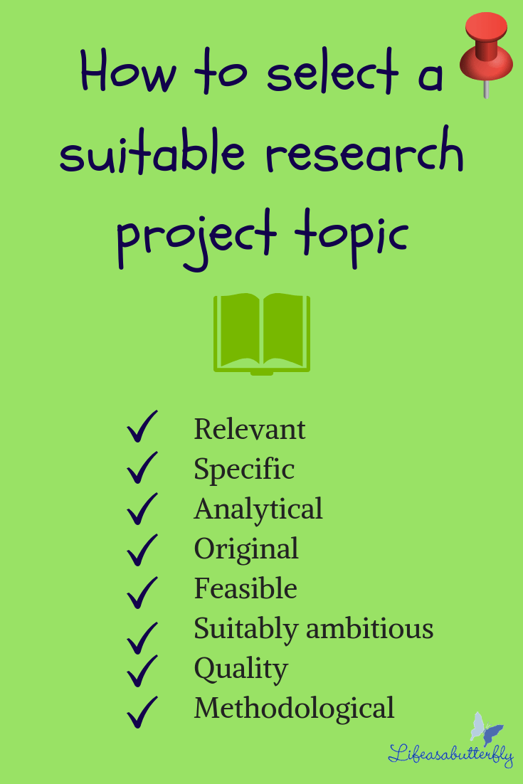 How To Select A Suitable Research Project Topic Tourism Teacher Academic Methods All But Dissertation Statistics