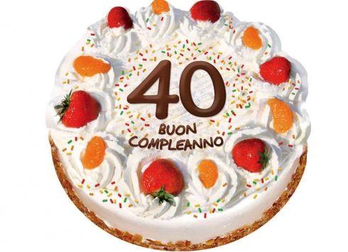 Biglietto 40 Buon Compleanno Biglietto Auguri Per I 40 Anni A Forma