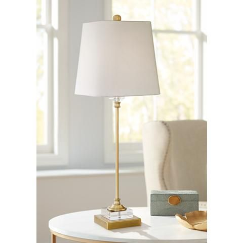 Julia gold and crystal buffet table lamp 32y15 lamps plus