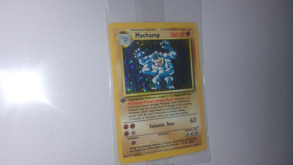 Rare! Pokemon 1st Edition Machamp - (8/102) Holo Card base