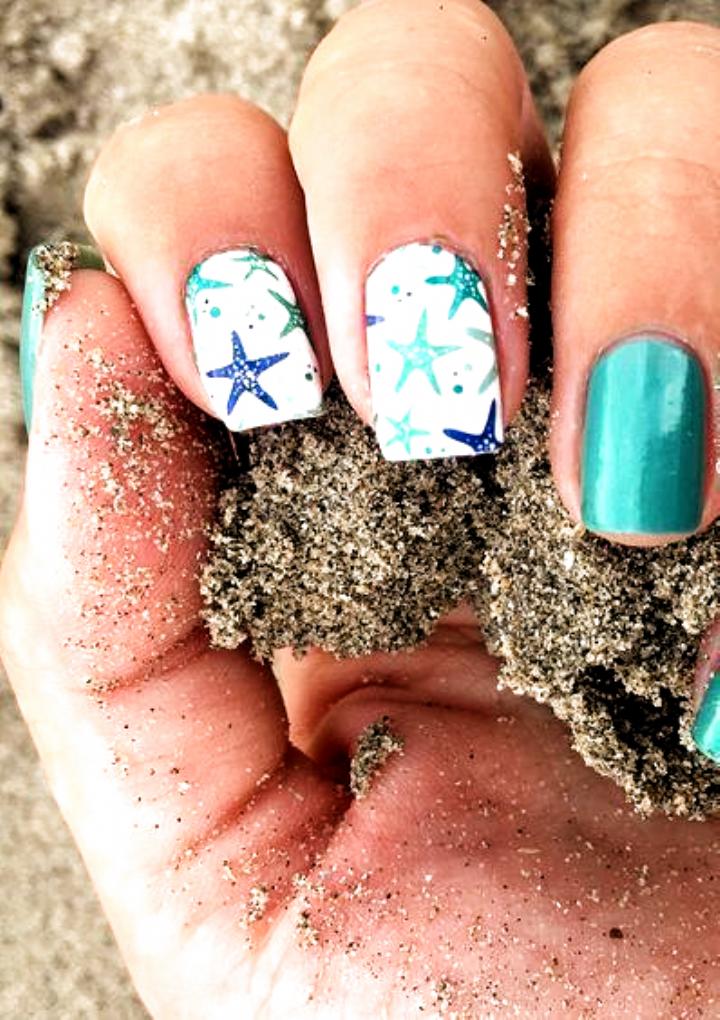 Mas De 55 Ideas Para Unas Art Summer Beach Beautiful Beach Beautiful Ideas Summer In 2020 Beach Themed Nails Nail Art Summer Beach Summer Nails Beach
