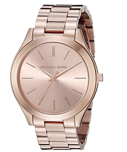 5623a0b20f9d Brand  Michael KorsColor  RosegoldFeatures  Rose gold-tone stainless steel  bracelet watch with tonal dial and baton hour markers 42 mm stainless steel  case ...