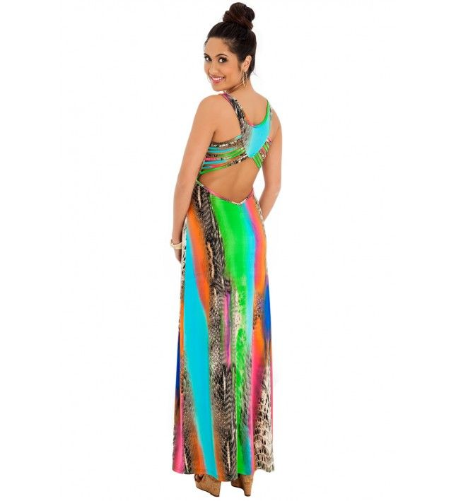 Tropical Maxi Dress - Pink  WAS £50.00 - NOW £15.00