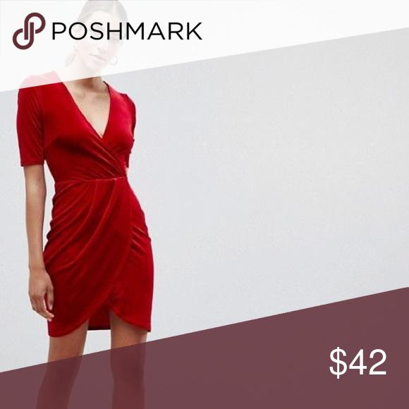 50+ Club l plus plunge wrap front dress in velvet trends