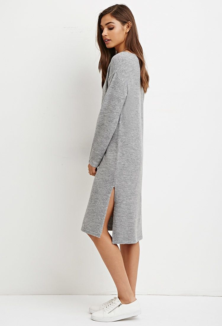 Brushed Knit Sweater Dress | WINTER | Pinterest