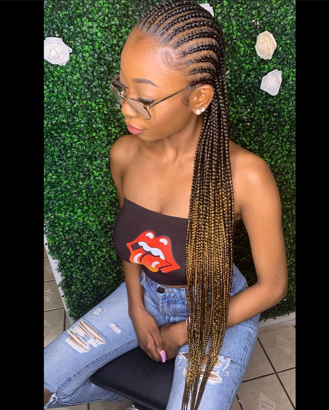 H B M E Llc S Instagram Post Medium Straight Backs Feed In Braids Ombre Swipe Left Feed In Braid Big Cornrows Hairstyles Braids Hairstyles Pictures