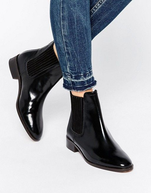 KG By Kurt Geiger Staple Leather Chelsea Boots - Black