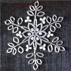 BEAD SNOW FLAKES_TUTORIAL